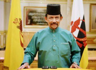 His Majesty Sultan of Brunei Darussalam wearing songkok.