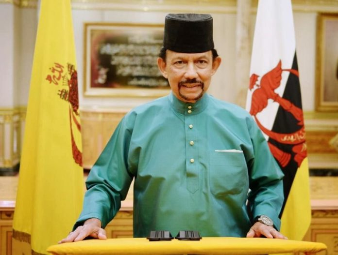 His Majesty Sultan of Brunei Darussalam wearing songkok.