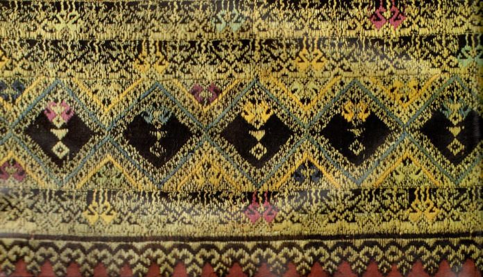 Detail of Chiang Mai Tin Chok From Songsak P and Patricia (1990). Lan Na Textiles : Yuan Lue Lao.