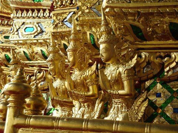 A carved section of the royal carriage Phra Maha Phichai Ratcharot.