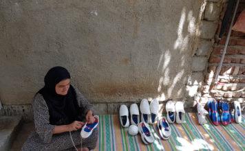 Weaving giveh (light cotton summer shoes)