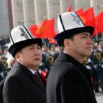 Kyrgyz politicians in ak-kalpak, 2011