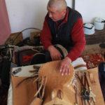 Kyrgyz usta with his saddle