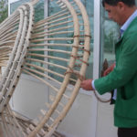 Master Tajmurad Mukhamedov is costructing the yurt. Mary province, Daikhan Birleshik. 2017 (1)