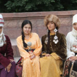 Reconstructed traditional dress of women and girls, 2016, Northern Kyrgyz