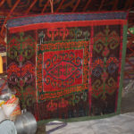The decorated kitchen sreen Chygdan chiy. Alai district, Osh province. 60s of XX century